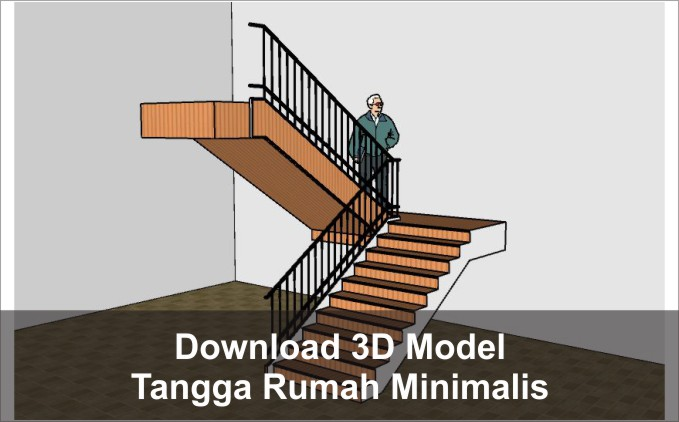 download 3d tangga minimalis
