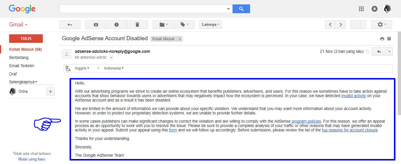 Google Adsense Dinonaktifkan Tapi Iklan Masih Tampil Diblog