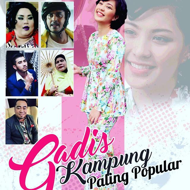 Cerekarama Gadis Kampung Palig Popular ,Lakonan Janna Nick, Azad Jazmin