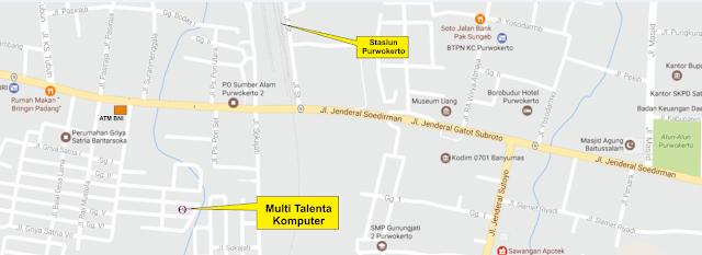 Denah Lokasi Multi Talenta Komputer Purwokerto