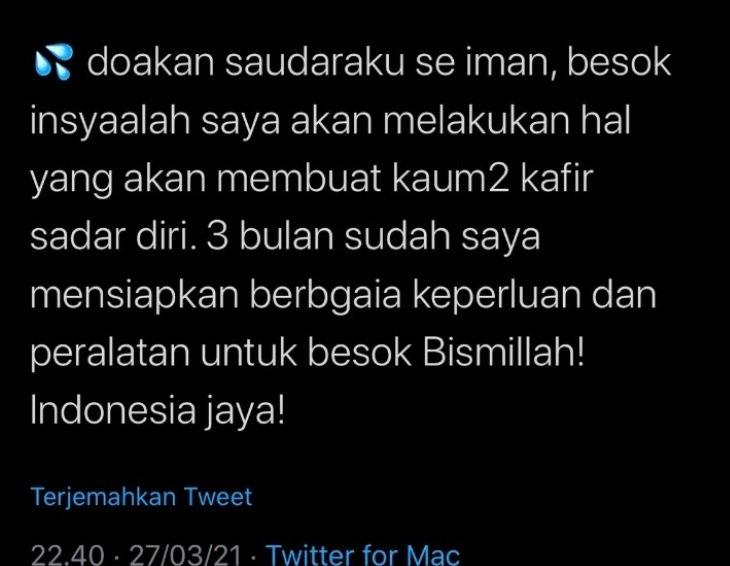 Heboh! Diduga Pesan Wasiat 'Pengantin' Bom Bunuh Diri Gereja Katedral Makassar Beredar di Media Sosial