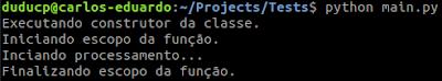 Python: declaração With