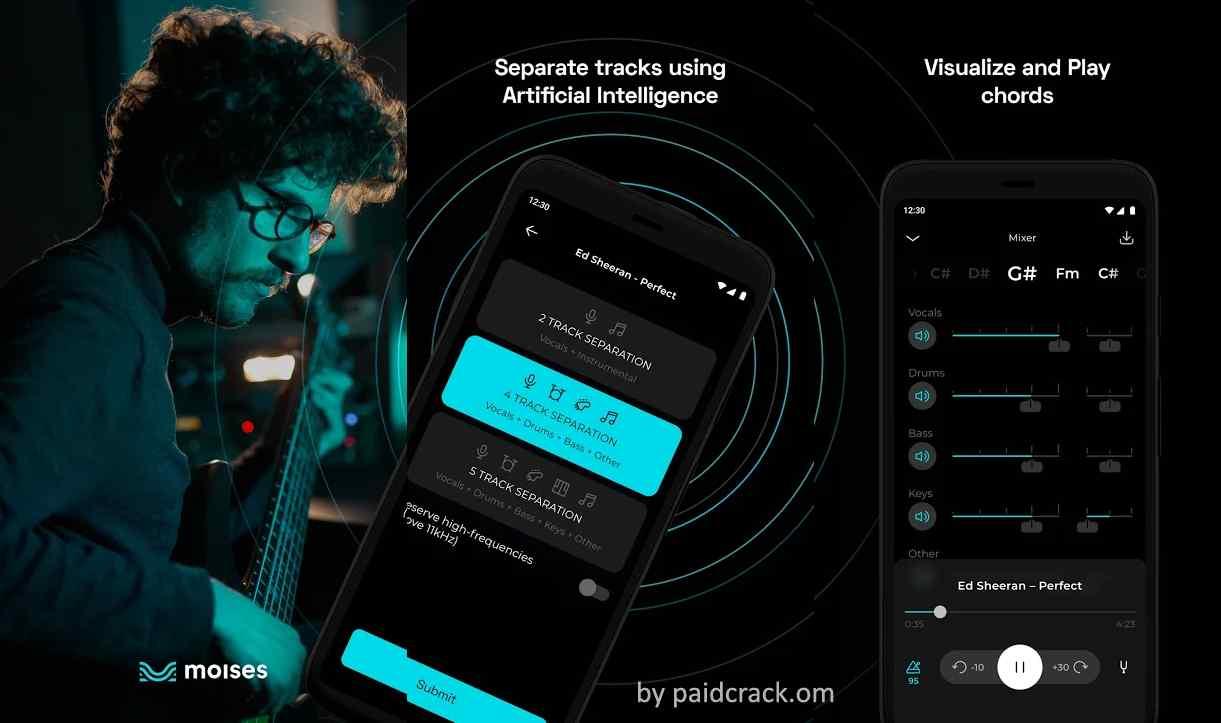 Moises: AI Music Editor + Vocal/Instrument Remover Premium Mod Apk 1.2.3