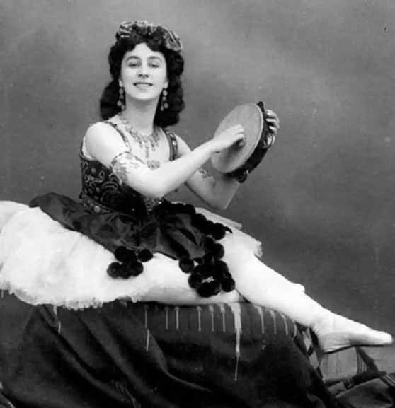Matilda Kschessinska com roupa de ballet