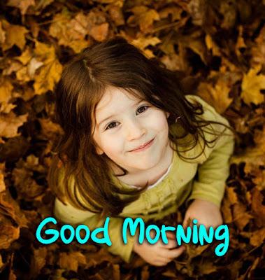cute girl good morning photo