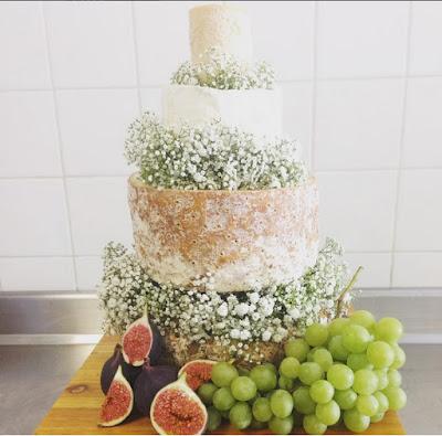 Käse-Hochzeitstorte von Jeremie Chosson Fromagerie in Poitiers