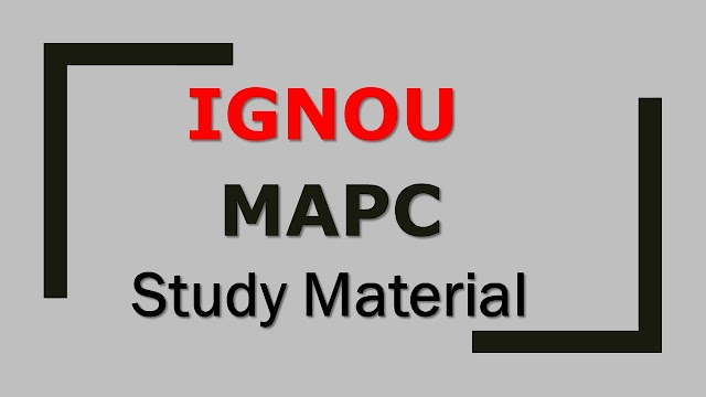 IGNOU MAPC Study Material
