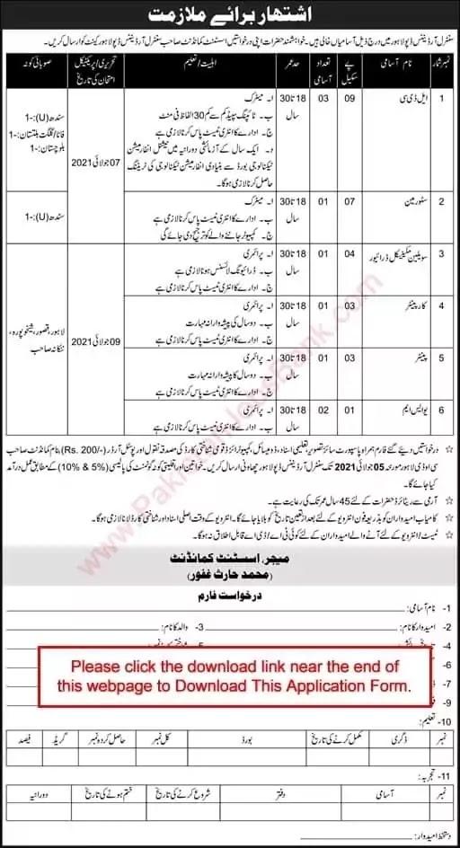 Pakistan Army Civilian Jobs 2021 || Pak Army Jobs 2021