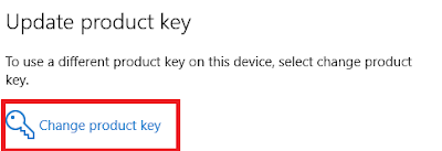 Change product key