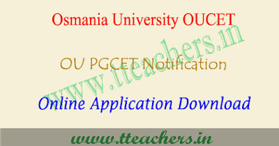OUCET 2019 online application form, ou pgcet apply online 2019