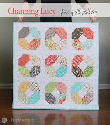 Charming Lucy baby quilt charm pack quilt free tutorial