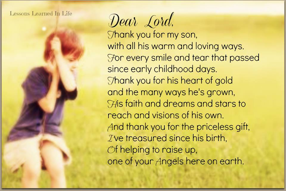 Quotes To Your Son: My Son Quotes Thankful For. QuotesGram