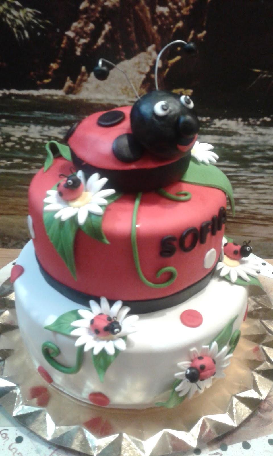 Cupcakes tenerife tarta ladybug o mariquita de toda la vida - Cupcakes tenerife ...