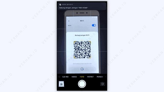 cara scan qr code wi-fi di iphone