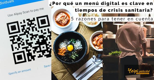 Por qué un menú digital es esencial en crisis sanitarias