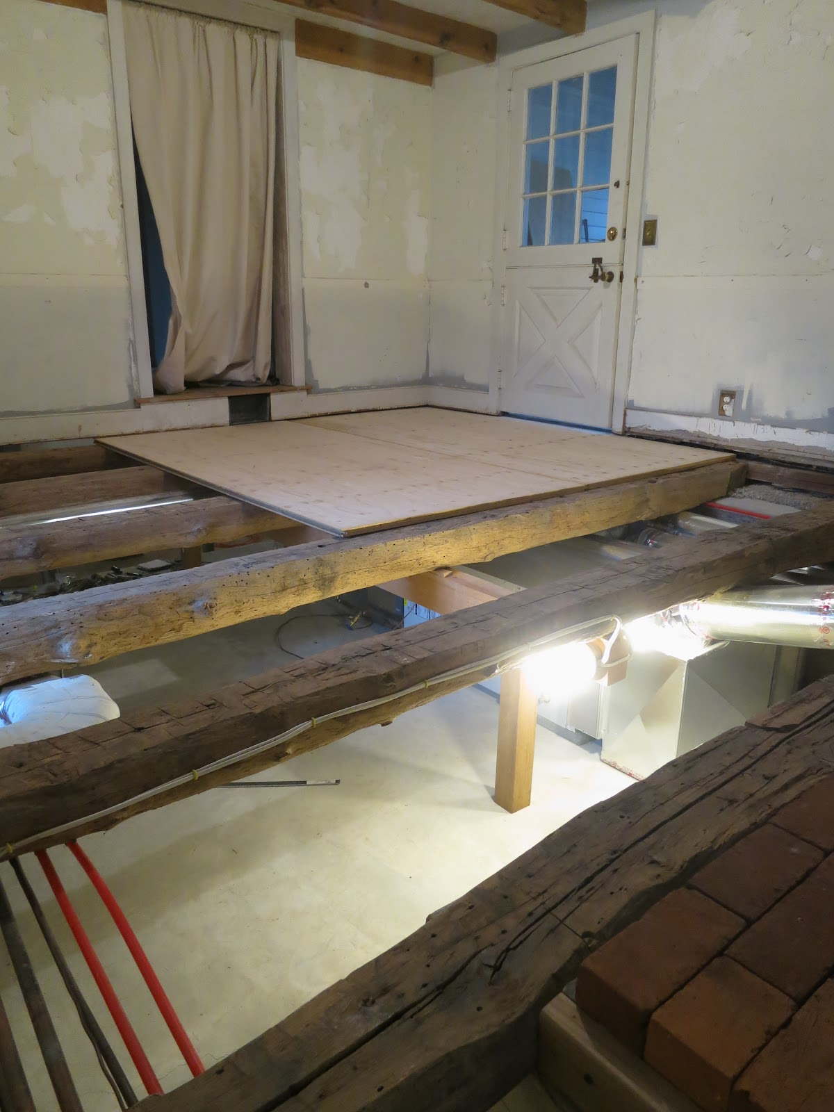 Laying A Subfloor On Old Beams