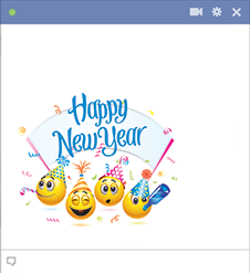 Happy New Year Facebook Emoticons