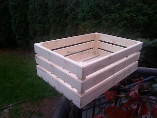 Skrzynka Drewniana 40x27x14 cm oraz 19 cm wysokości