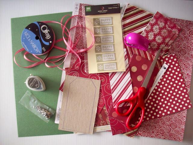 Tag+Supplies+Needed DIY Christmas Gift Tags Tutorial