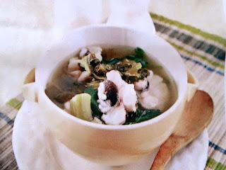 Gambar Resep Sup Ikan Tenggiri Sawi Asin