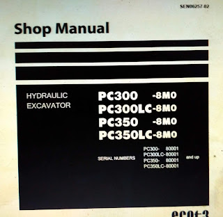 Komatsu Shop Manual pc300-8MO pc300lc-8MO pc350-8MO pc350lc-8MO