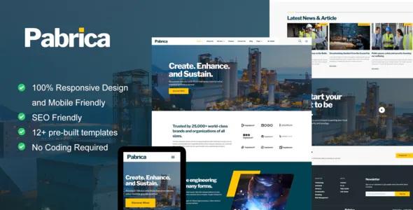 Best Engineering & Industrial Service Elementor Template Kit