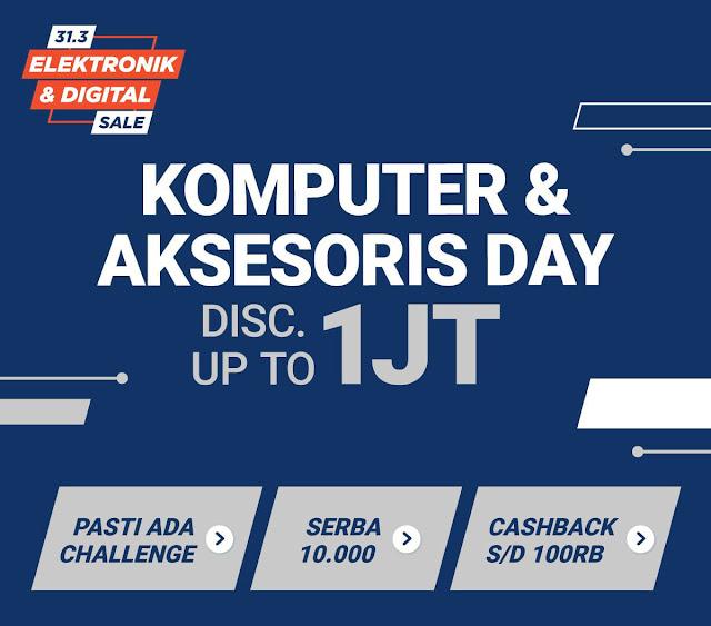#Shopee - #Promo Diskon Hingga 1Jt Komputer & Aksesoris Day