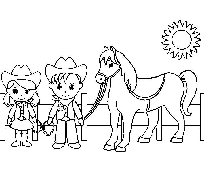coloring cowboy book pages - photo#42