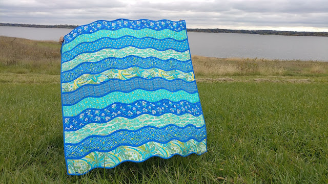 High Tide quilt with Kiamesha fabric for Moda