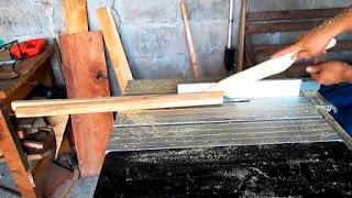 Empujador de madera