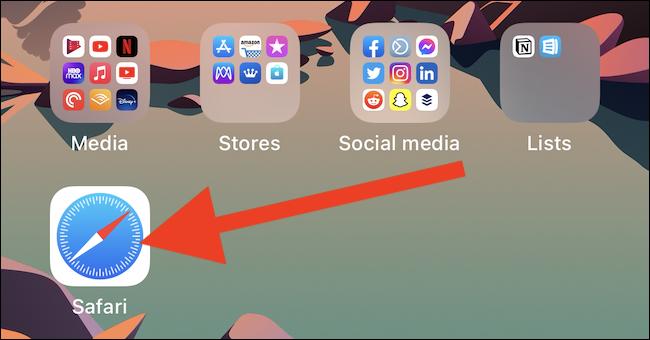 افتح متصفح ويب من اختيارك على جهاز iPhone أو iPad