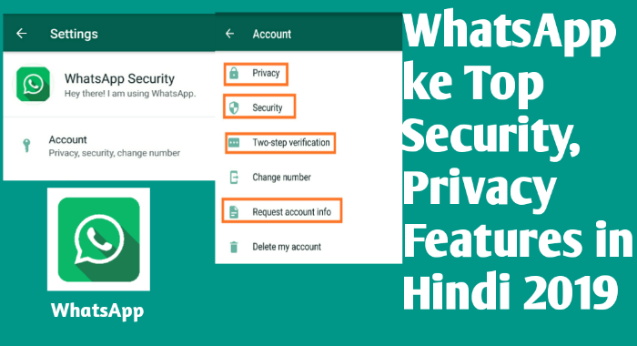 WhatsApp ke top security, privacy features in Hindi 2019