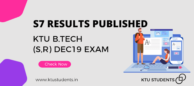Ktu s7 result published