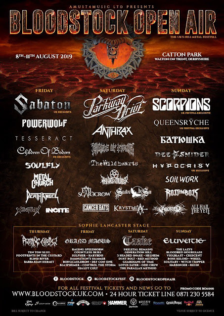 Bloodstock 2019 updated poster
