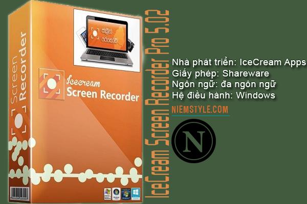 Phần mềm IceCream Screen Recorder Pro 5.02 Crack với Serial Key