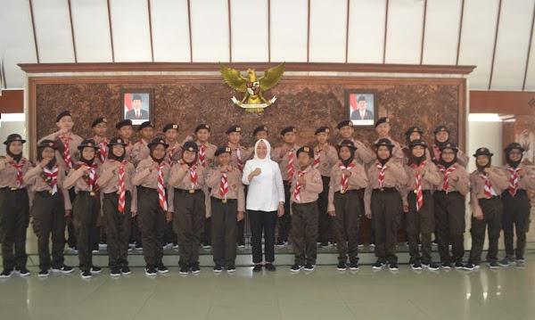 Kak Anna Lepas Kontingen Jambore Daerah Jawa Timur Tahun 2019
