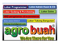 Loker Programmer, HRD, Sales, Purchasing, Kasir, CS, Tukang Bangunan di Agro Buah Yogyakarta