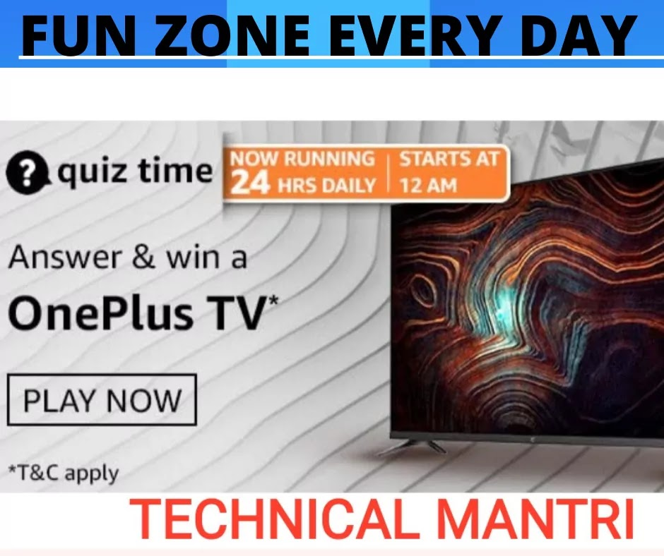 Amazon quiz answers  for 18th  April 2021 Win Prizes