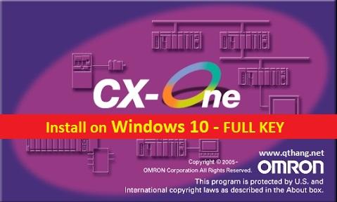 CX - One V4.40 + CX Programmer 9.60 - Phần mềm lập trình PLC Omron [FULL KEY]