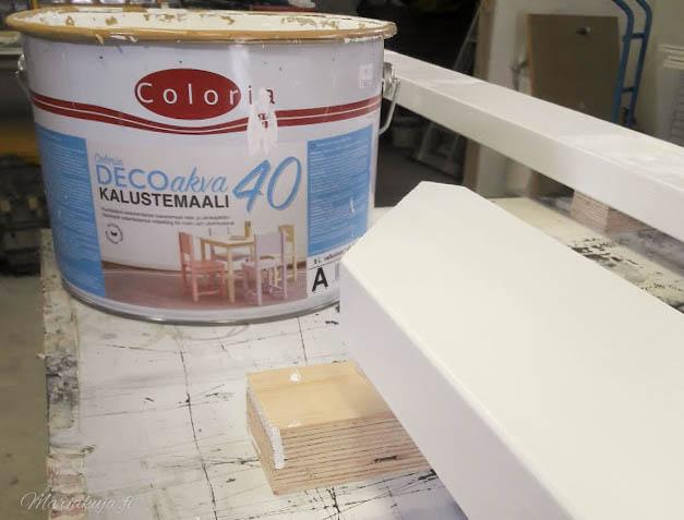 kaiteiden kunnostus maalaus valkoiseksi coloria