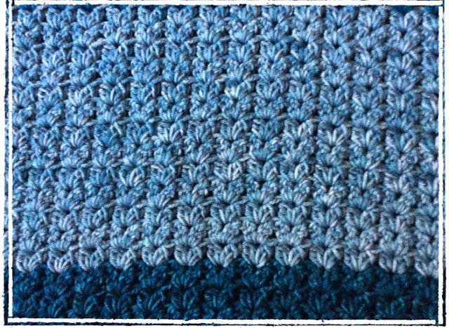 Stonewash Cluster V stitch Baby Blanket