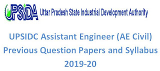 UPSIDC Assistant Engineer (AE Civil) Previous Question Papers and Syllabus 2019-20