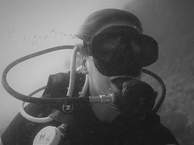 Photo of Ellis scuba diving on Koh Lipe