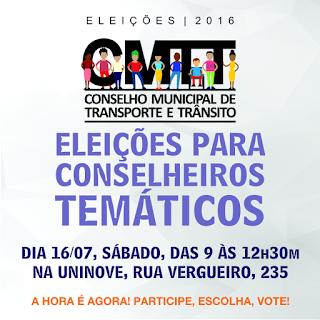 Eleições para conselheiros temáticosCMTT