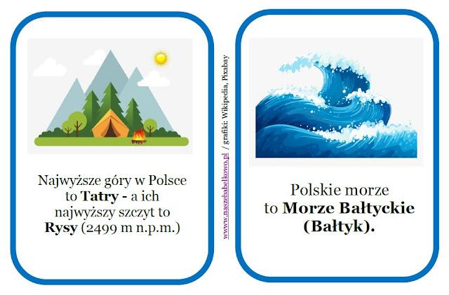 Moja Ojczyzna - Polska - 2 maja - 3 maja - 11 listopada - Święto Flagi - Święto Konstytucji 3 Maja - Święto Niepodległości - przedszkole - materiały do pobrania - karty pracy - miasta Polski i ich symbole