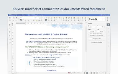 OnlyOffice, traitement de texte gratuit