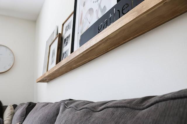 How to Make a Ledge Shelf the EASY way