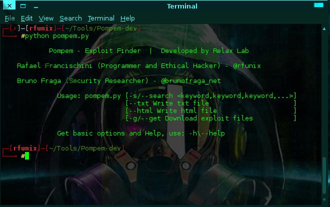 Pompem - Exploit Finder Script & Web Version