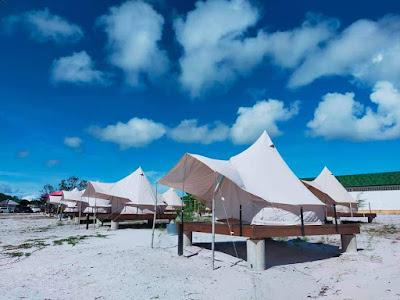 Tenda di Pantai Nirwana Barelang
