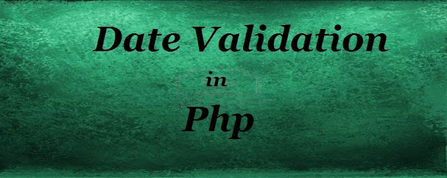 Date validation in PHP